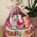 Huwelijjksgeschenk - moneycake