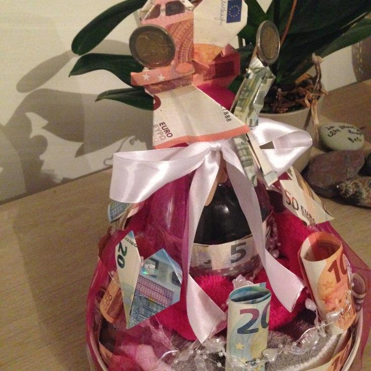 Huwelijksgeschenk - moneycake